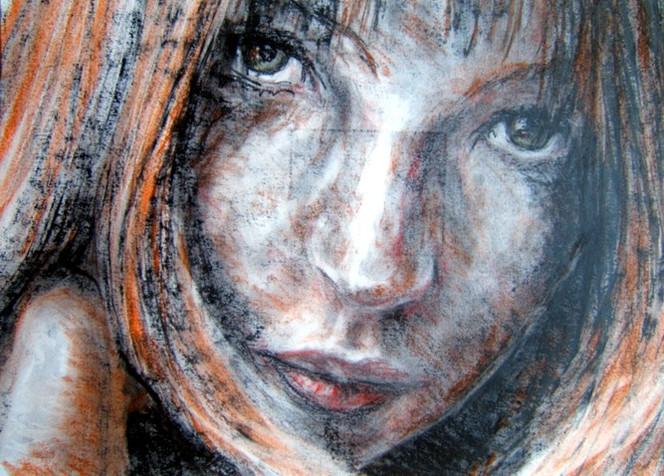 Portrait, Zeichnungen, Fenster,