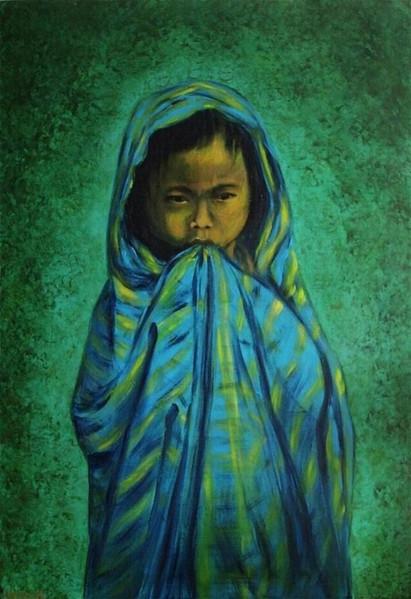 Malerei, Menschen, Nord, Kind