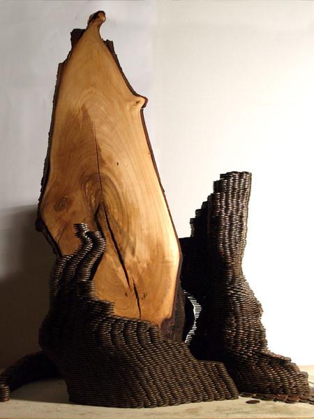 Skulptur, Geld, Plastik, Abstrakt