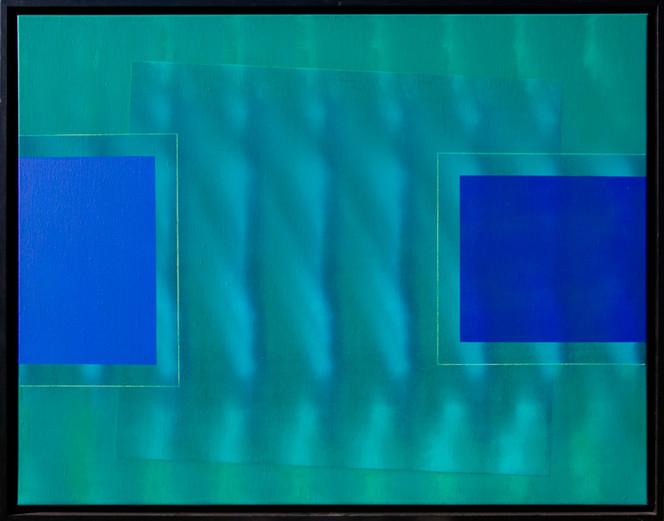 Grün, Linie, Welle, Blau, Geometrie, Malerei