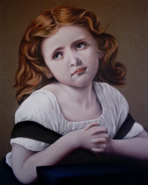 Figural, Portrait, Kopie, Mädchen, Malerei