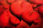 Liebe, Herz, Malerei, Rot