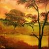 See, Malerei, Wald, Baum