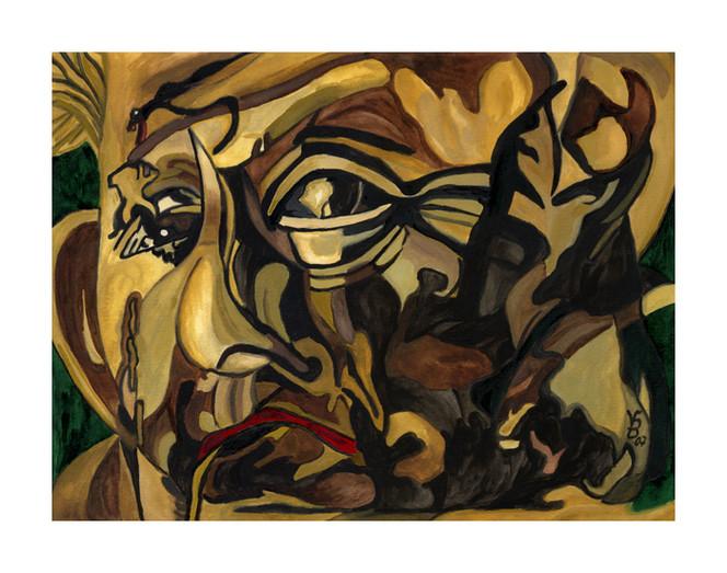 Surreal, Malerei, Alt, Mann, Arm, Einsamkeit