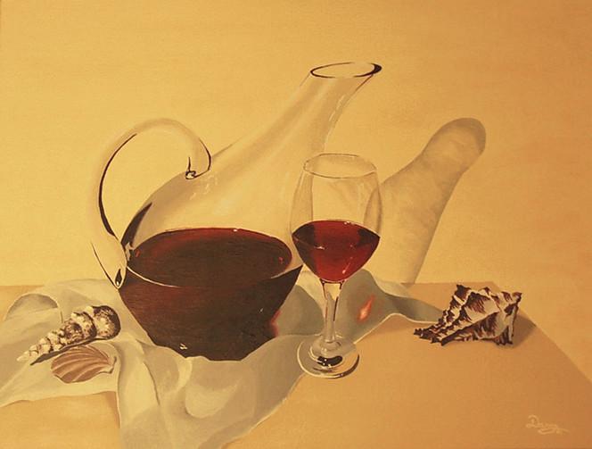 Stillleben, Acrylmalerei, Wein, Malerei