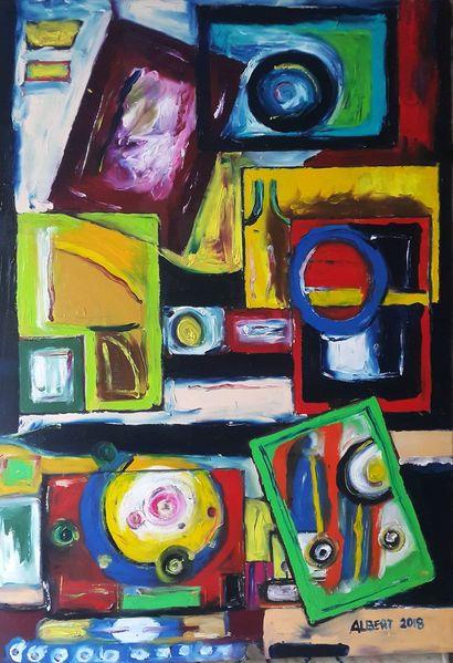 Kugel, Farben, Formen, Quadrat, Malerei