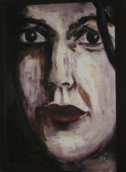 Malerei, Frau, Gesicht, Portrait, Figural