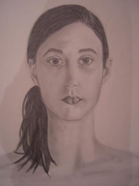 Zeichnung, Selbstportrait, Portrait, Zeichnungen
