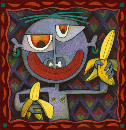 Surreal, Bananen, Marker, Illustration, Malerei