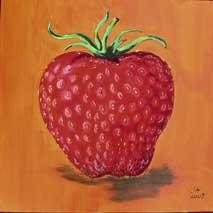 Erdbeeren, Malerei, Stillleben, Obst, Rot, Frisch