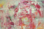 Malerei, Rot, Grün, Abstrakt