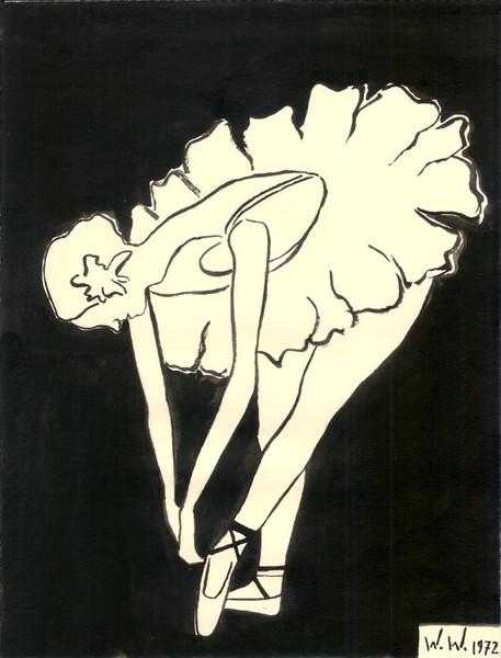 Zeichnung, Skizze, Zeichnungen, Ballett
