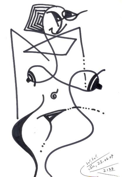 Grafik, Abstrakt, Akt