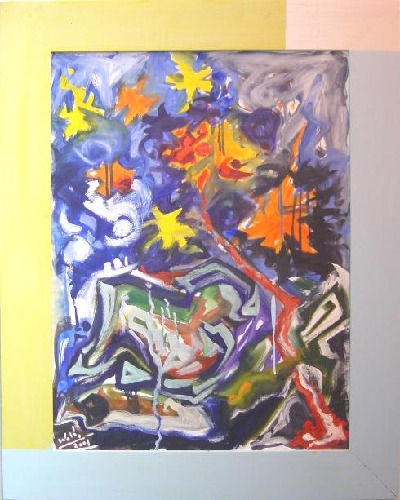 Malerei, Abstrakt, Leben, Tod