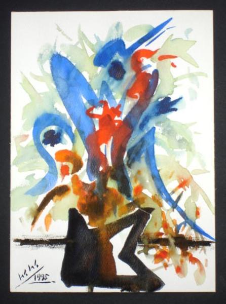 Abstrakt, Malerei, Fantasie, Blumenstrauß