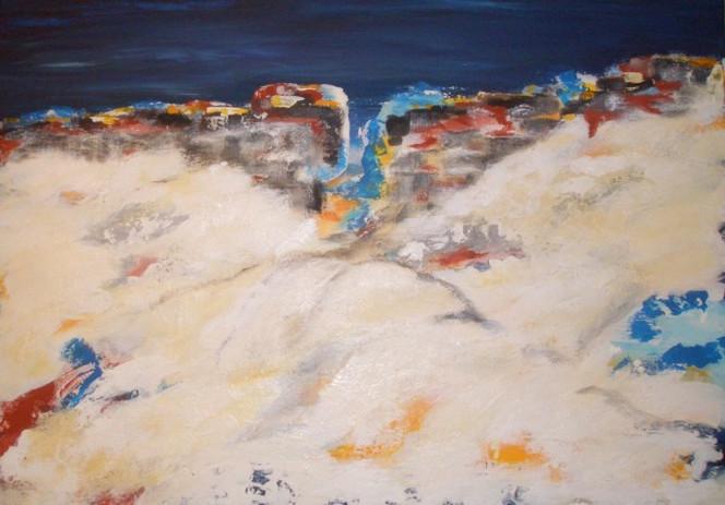 Malerei, Abstrakt, Landschaft