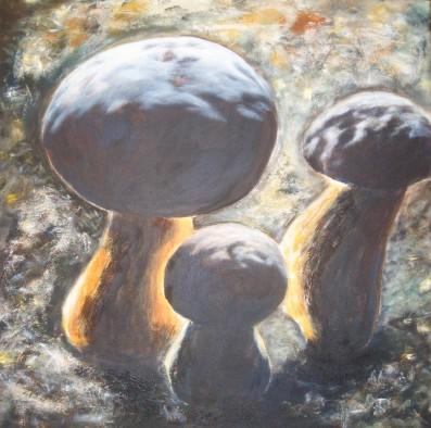 Steinpilz, Herbst, Braun, Malerei, Pilze, Stillleben
