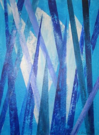 Malerei, Fantasie, Abstrakt, Blau