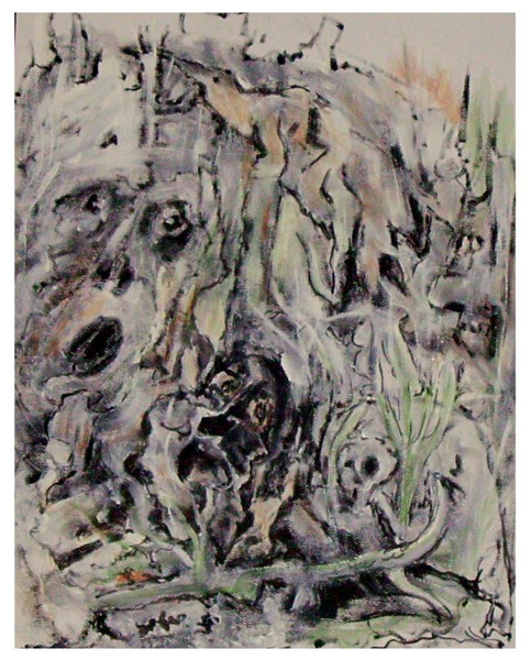 Urwald, Seele, Düster, Acrylmalerei, Malerei