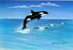 Wal, Figural, Malerei, Meer