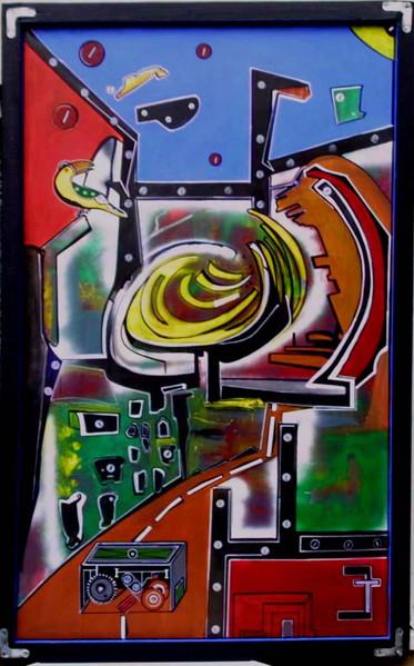 Abstrakt, Malerei, Bombe, Zeit