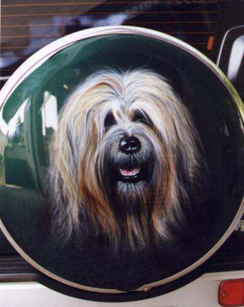 Airbrush, Portrait, Tiere, Hund, Malerei, Hundeportrait