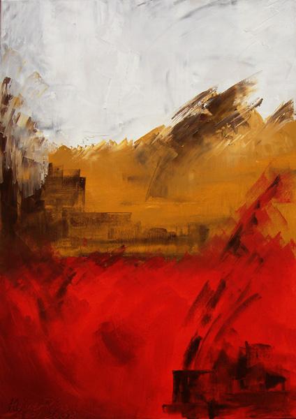 Ölmalerei, Spachteltechnik, Abstrakt, Malerei, Aufbruch