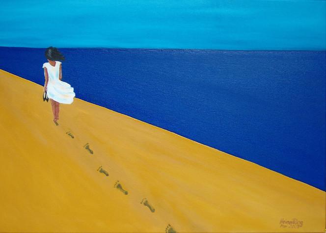 Malerei, Sand, Spuren