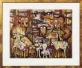 Tiere, Highlands, Schaf, Malerei
