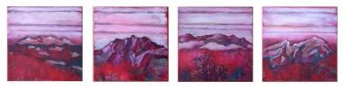 Berge, Natur, Landschaft, Malerei