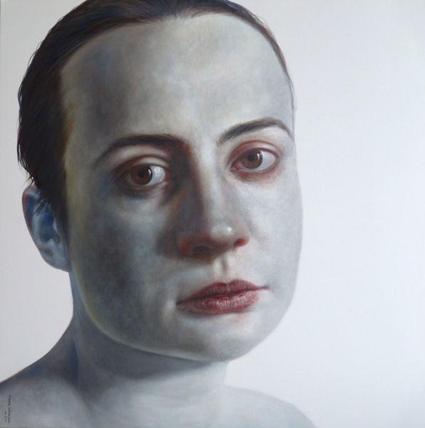 Portrait, Malerei, Frau, Moment,