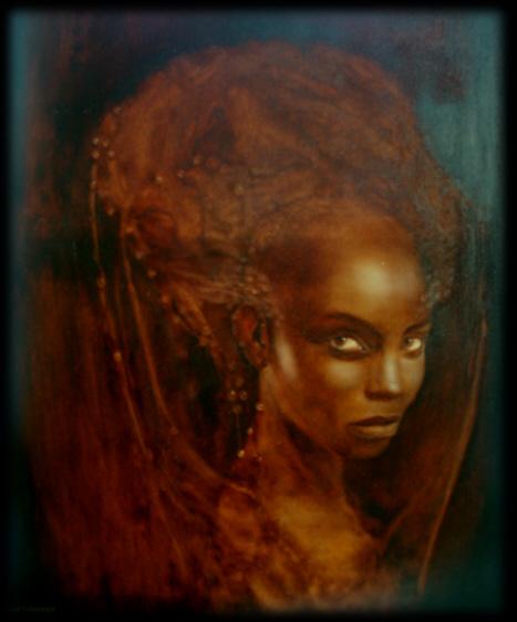 Portrait, Malerei, Surreal, Frau, Königin