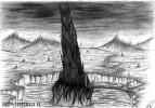 Zeichnung, Turm, Höllenturm, Zeichnungen