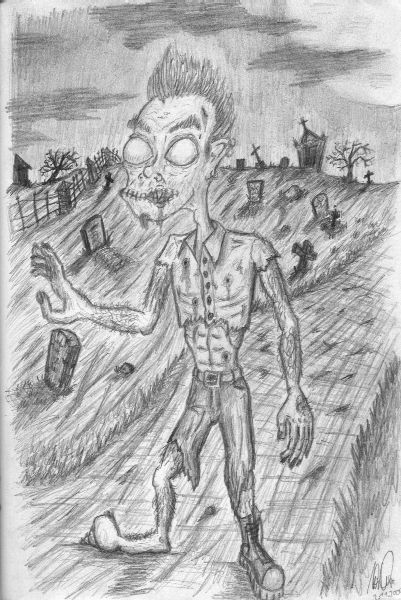Zombie, Zeichnung, Zeichnungen,