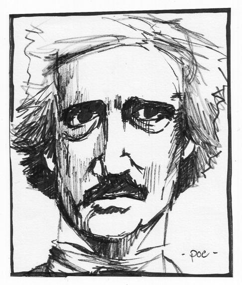 Zeichnung, Edgar allan poe, Portrait, Zeichnungen