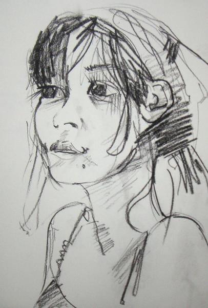 Freundin, Zeichnungen, Portrait