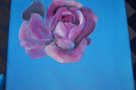 Rose, Räumlichkeit, Malerei, Üben, Licht, Schatten