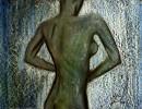 Rückenakt, Figural, Mager, Gegenlicht