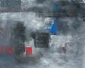 Packpapier, Grau, Abstrakt, Blau
