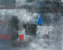 Abstrakt, Blau, Rot, Packpapier