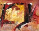Abstrakt, Packpapier, Malerei