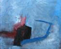 Abstrakt, Blau, Packpapier, Malerei