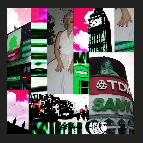 Digital, Photoshop, Quadrat, London, Pink, Abstrakt