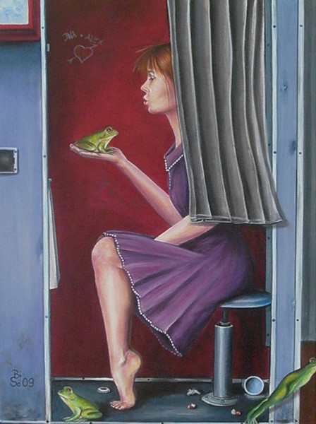 Frosch, Moment, Malerei, Festhalten, Hoffnung, Sterben