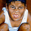 Malerei, Brasilianisches straßenkind, Figural, Menschen