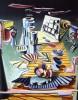 Abstrakt, Expressionismus, Acrylmalerei, Surreal