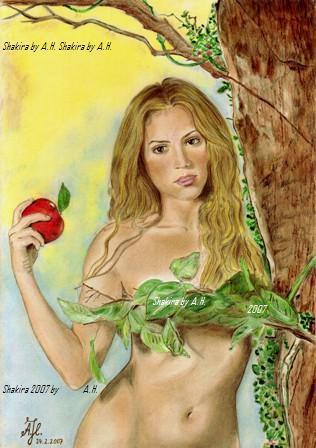 Malerei, Figural, Apfel, Cd