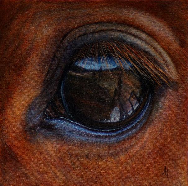 Tierwelt, Augen, Pferde, Realismus, Gemälde, Traum