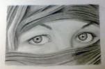 Wüste, Augen, Zeichnung, Portrait
