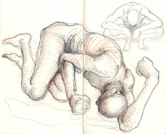Skizze, Gekrakelte, Figur, Zeichnung, Zeichnungen, Skizzenbuch